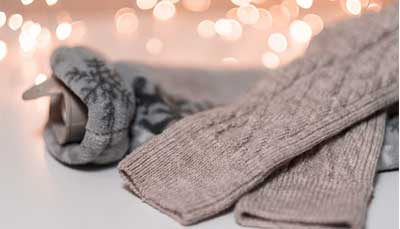 Hot water bottle and a warm pair of socks